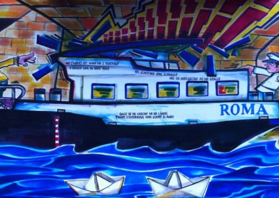 Sujet 2012: Schiff ahoi (Schiffli falte)